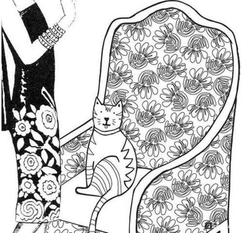 Иллюстрация 9 из 53 для Кототерапия. Раскраска-антистресс ...