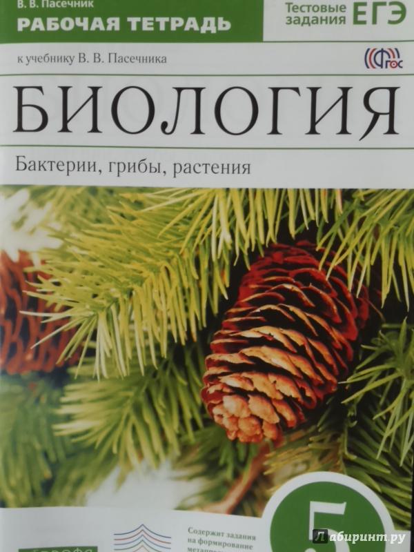 Онлайн учебник 5 класс по биология в.в.пасечник