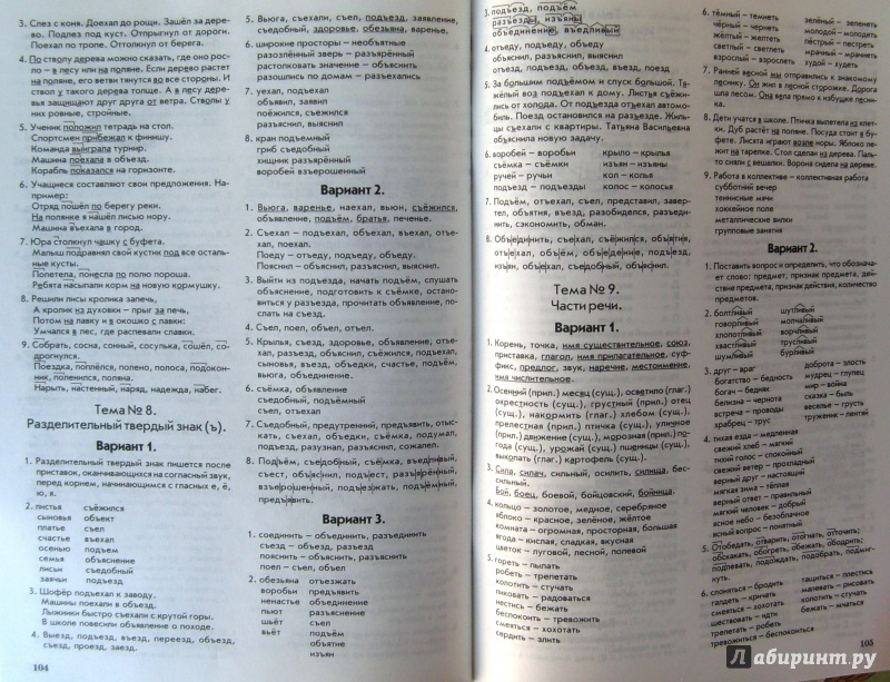 гдз голубь тематический контроль знаний по русскому языку 4 класс ответы