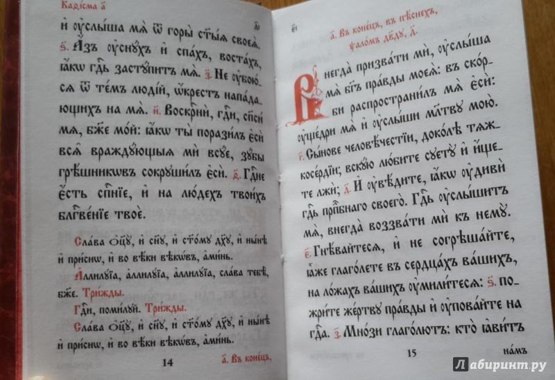 Иллюстрация 8 из 12 для Псалтирь. На церковнославянском языке   Лабиринт - книги. Источник: Егорова  Татьяна Борисовна