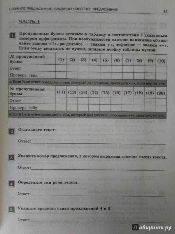 по русскому языку все цыбулько гдз класс рабочая ответы 7 тетрадь