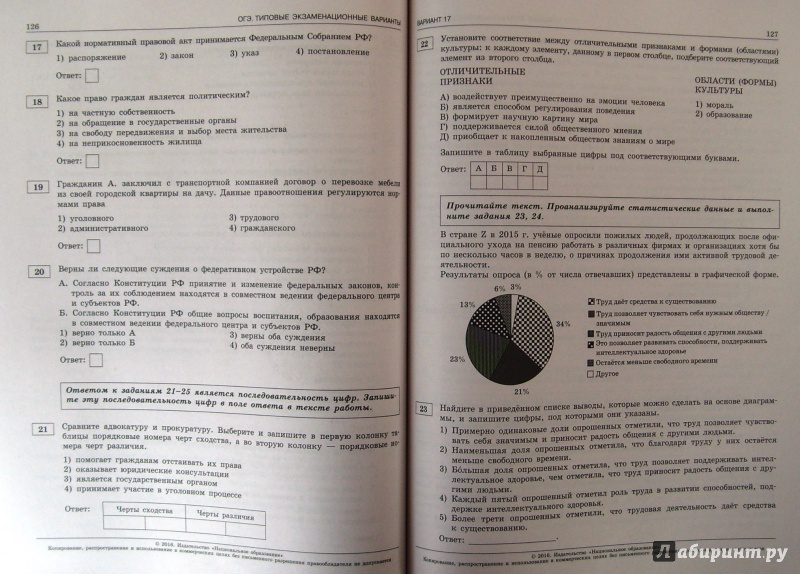 вопросы и ответы по обществознанию 9 класс огэ постоянную