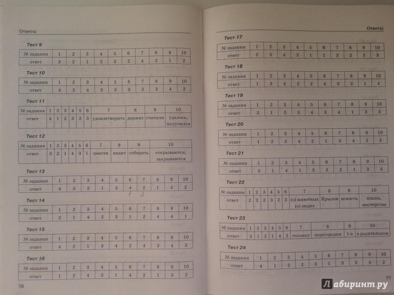 по 5 гдз тестам класс языка кудинова русского