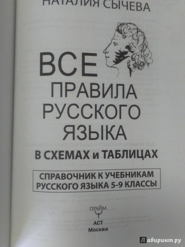 5-9 в правила класс таблицах языка русского