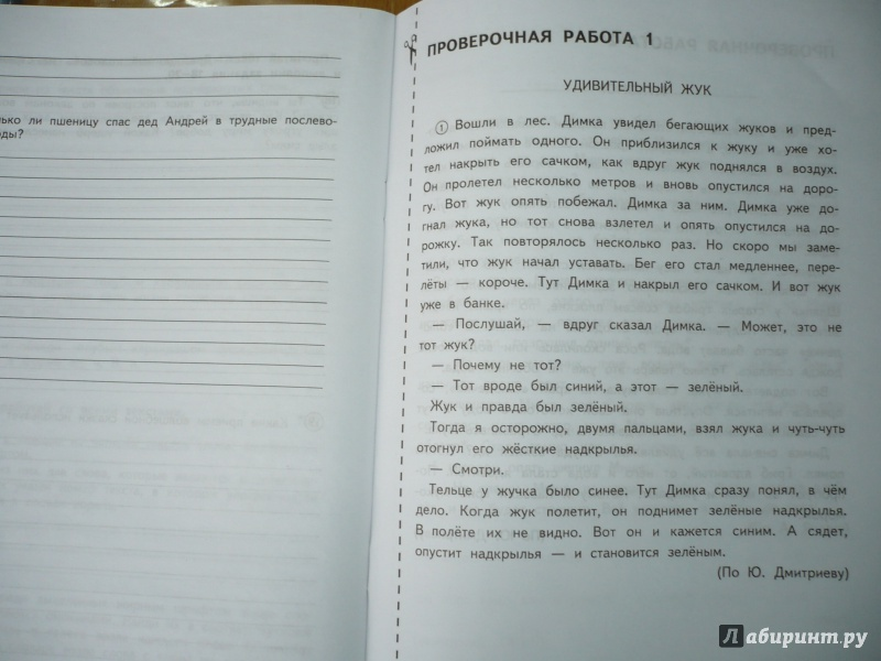 Проверочные работы по русскому языку 4 класс перспективная начальная школа