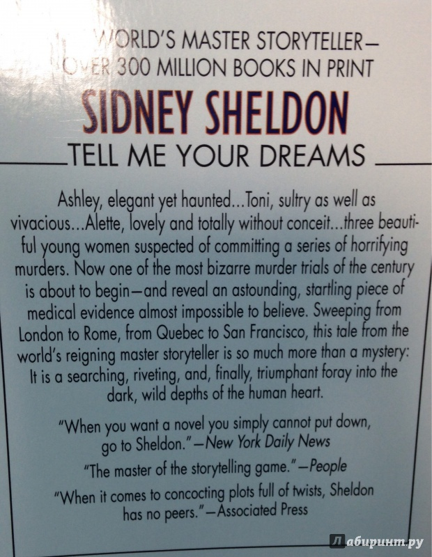 analysis of the main theme in sidney sheldons tell me your dreams essay