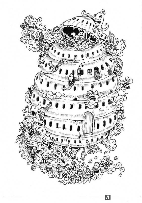 дудлов раскраска лабиринт вторжение