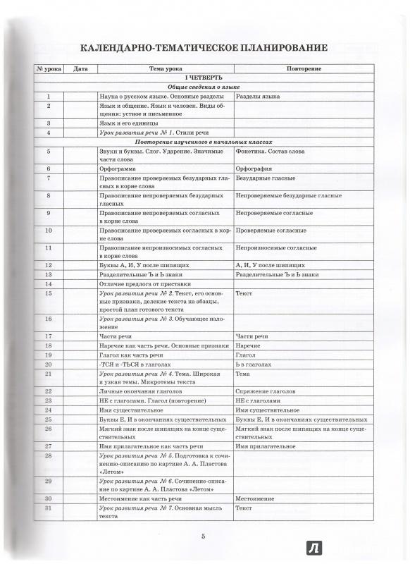 Конспект уроков по русскому языку 5-9 классов