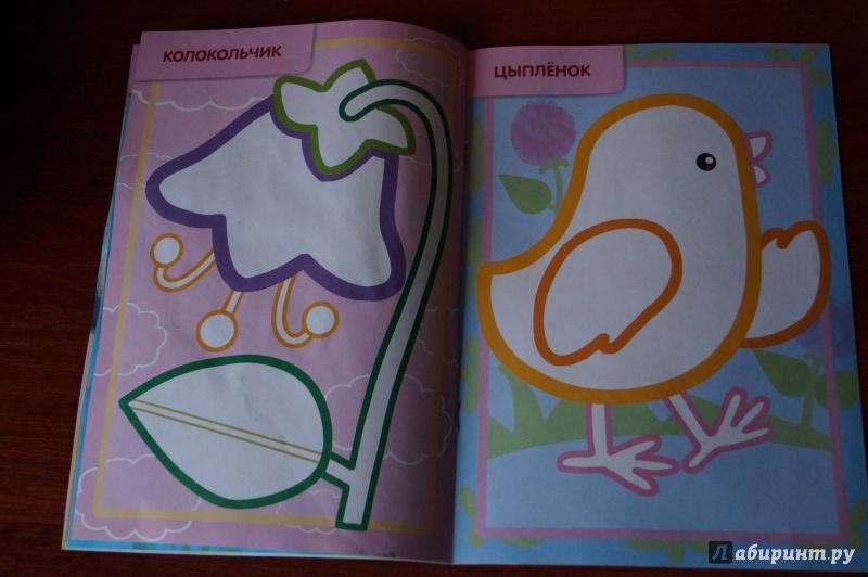 Иллюстрация 10 из 16 для Раскраска с цветным контуром ...