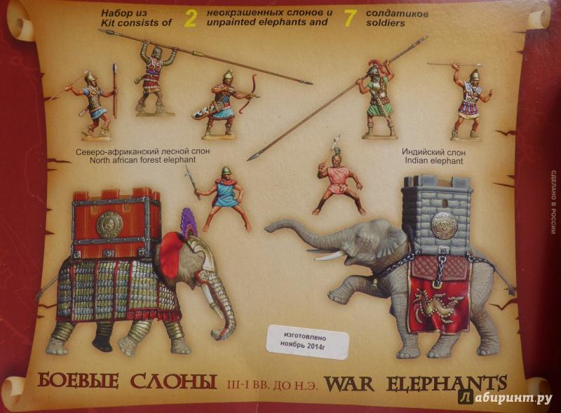Иллюстрация 1 из 22 для Боевые слоны. III-I вв. до н.э. (8011)   Лабиринт - игрушки. Источник: дева