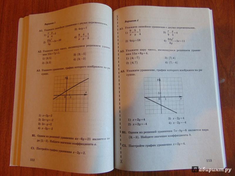 для 7 по класс гдз работ контрольных книга алгебре