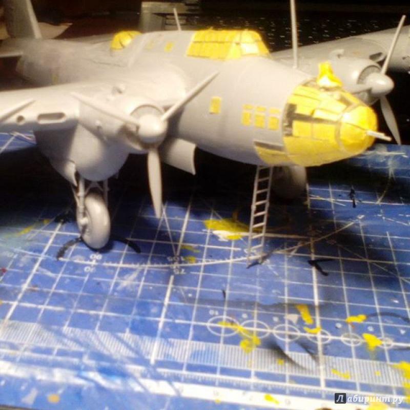 Иллюстрация 1 из 4 для Советский дальний бомбардировщик Пе-8 (7264П)   Лабиринт - игрушки. Источник: Sergey B.