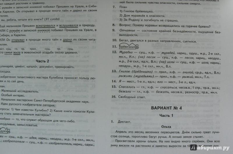 решебник по всероссийской проверочной работе по русскому языку