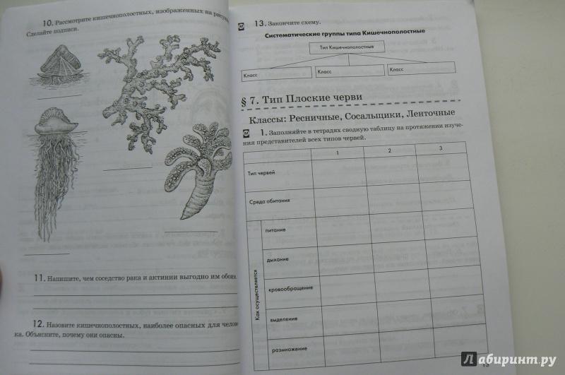 7 с латюшин тигром биологии фгос гдз по рабочая тетрадь шапкина класс