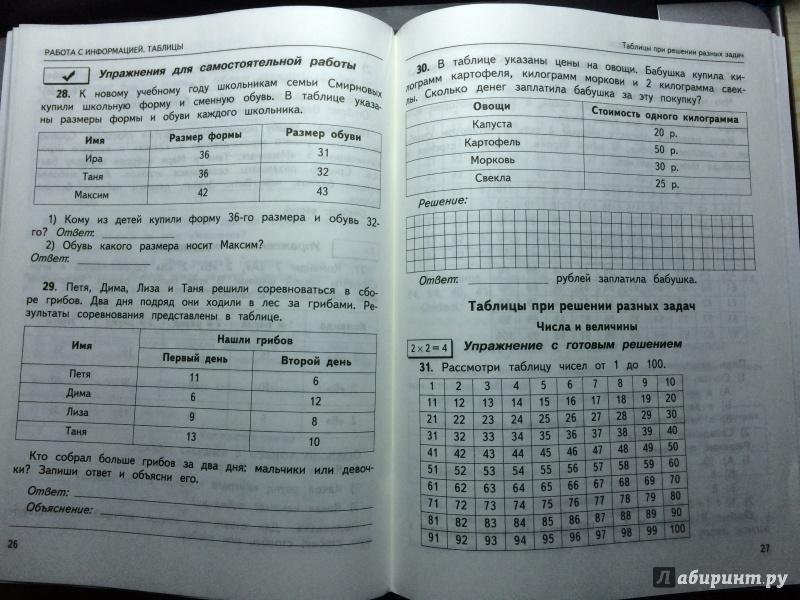 Иллюстрация 1 из 6 для Математика. 2 класс. Работа с информацией. Числа и таблицы. ФГОС - Рыдзе, Позднева | Лабиринт - книги. Источник: Alexsadria