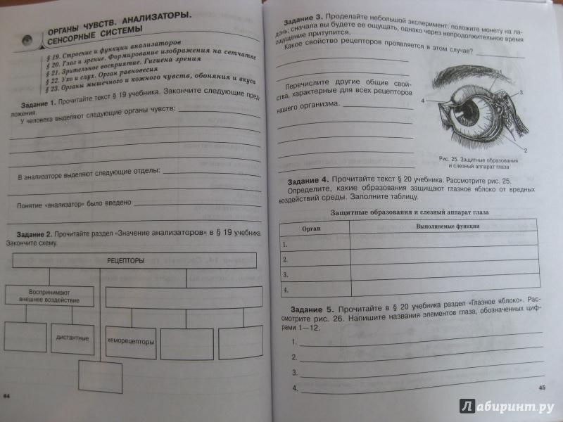 рохлов гдз 8 класс биология трофимова