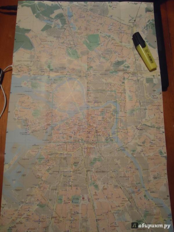 Иллюстрация 1 из 3 для Санкт-Петербург. Карта для гостей города. Масштаб 1:44000 | Лабиринт - книги. Источник: Чернышова  Дарья
