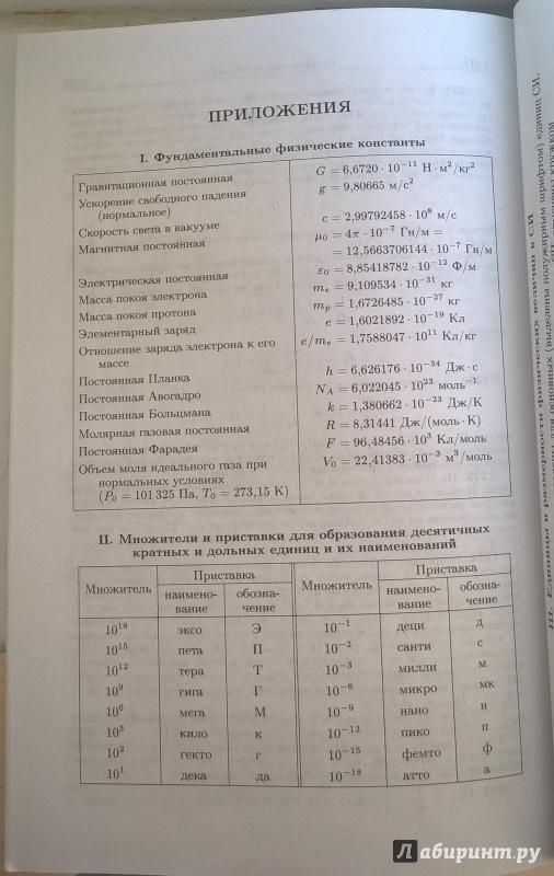 Бендриков г а физика гдз