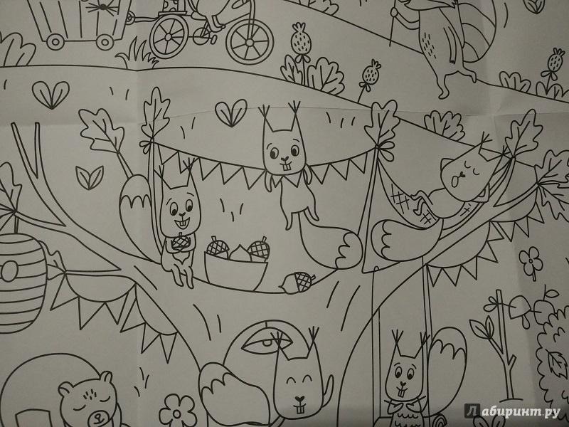 Иллюстрация 8 из 19 для Сказочный лес. Раскраска-плакат ...