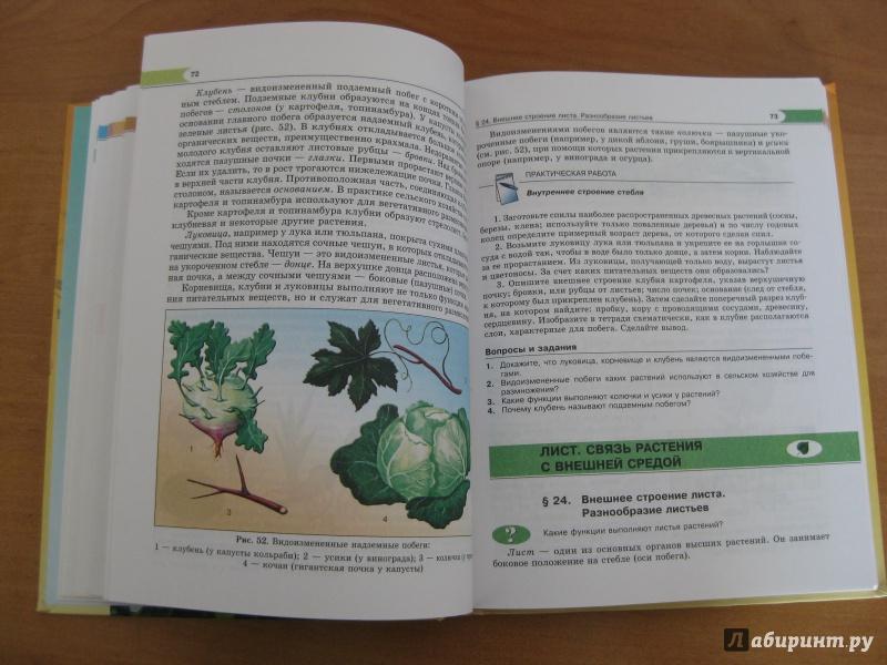 Решебник по биологии за 6 класс трайтак