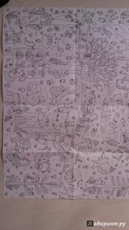 Иллюстрация 11 из 19 для Сказочный лес. Раскраска-плакат ...
