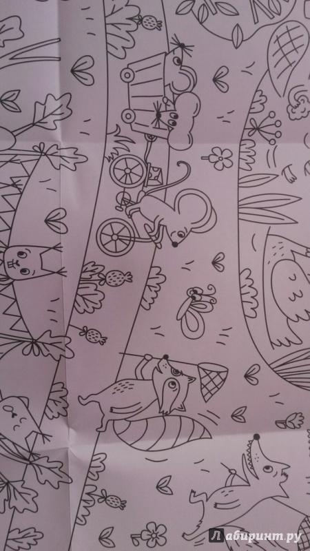 Иллюстрация 14 из 19 для Сказочный лес. Раскраска-плакат ...