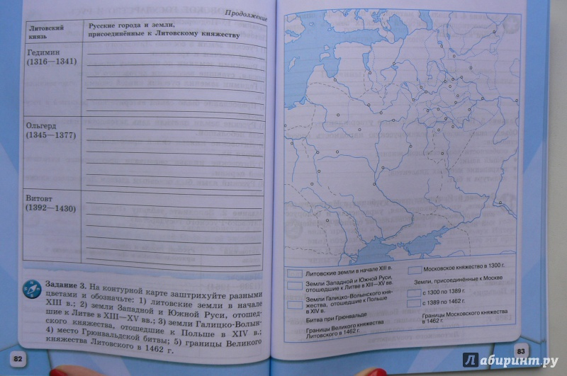 россии данилов артасов класс тетрадь история соколова косулина гдз 6