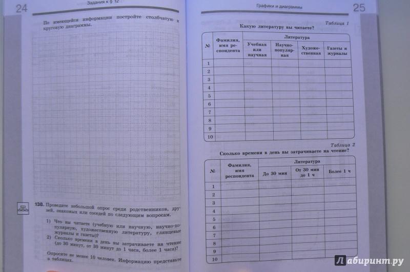 Информатика 6 класс рабочая тетрадь часть вторая