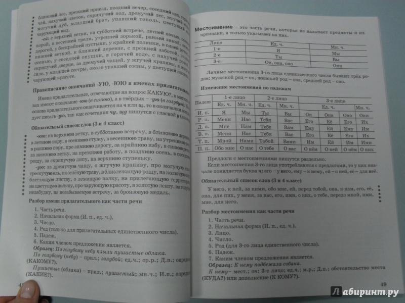 класс гдз по нефёдова пособию 4 справочному узорова