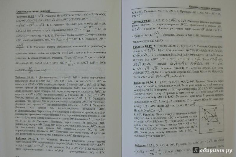 Гдз по геометрии 10-11 класс е.м.рабинович