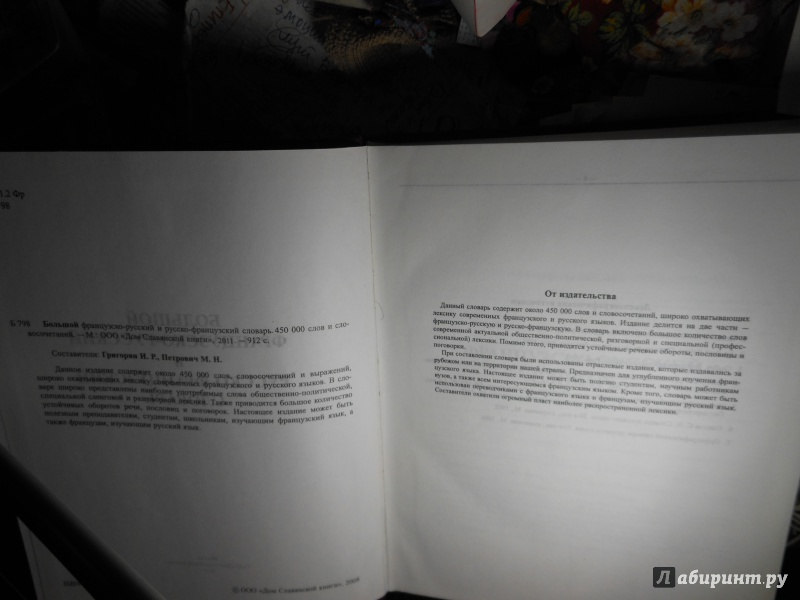 Иллюстрация 1 из 10 для Большой французско-русский и русско-французский словарь. 450 000 слов и словосочетаний   Лабиринт - книги. Источник: Савина  Евгения