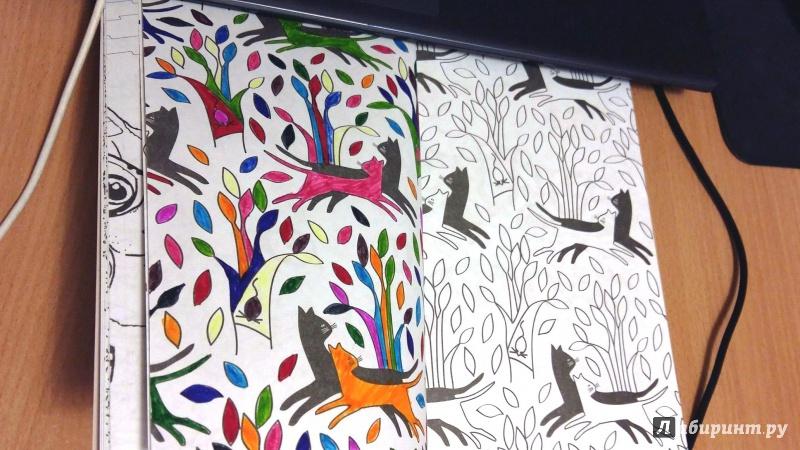 Иллюстрация 43 из 84 для Кототерапия. Мини-раскраска-антистресс для творчества | Лабиринт - книги. Источник: Витка