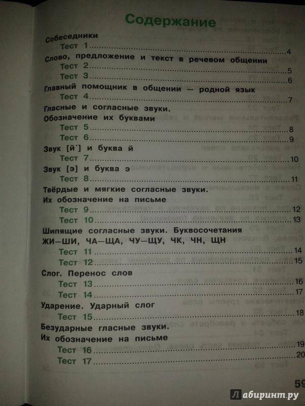 Класс русскому ответы по 2 михайлова языку тесты гдз