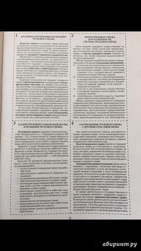 Трудовое Право Шпаргалка Либрусек