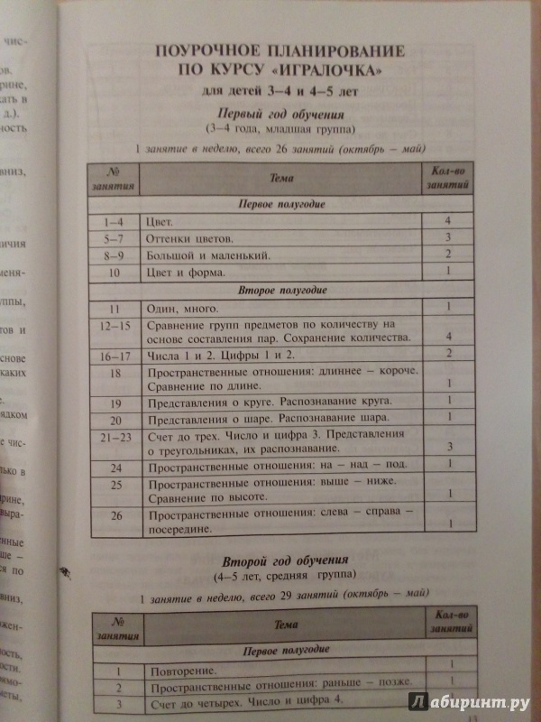 Игралочка. Практический курс математики для детей 3-4 лет.