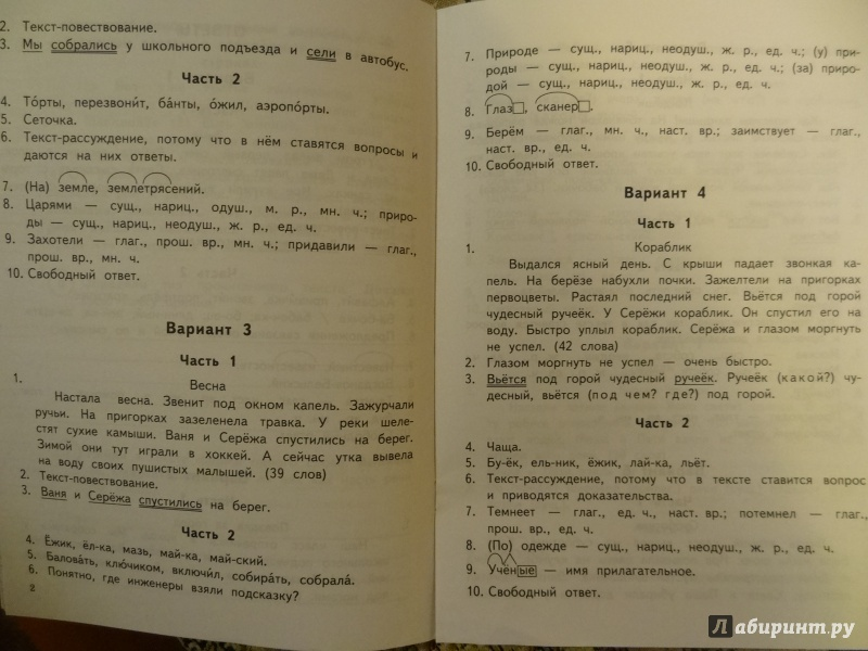 Решебник русский язык всероссийская проверочная работа