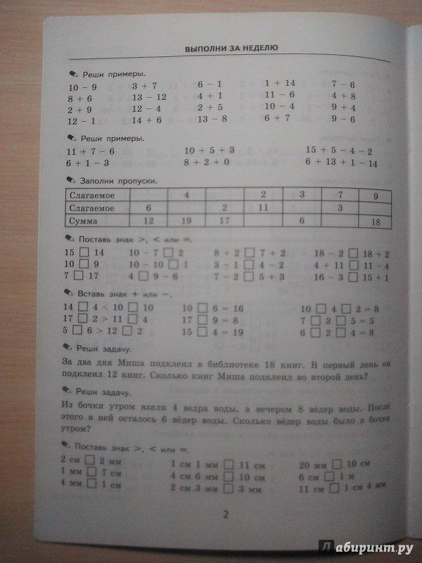 Кузнецова по ответы решебник класс математике тренировочные примеры 4