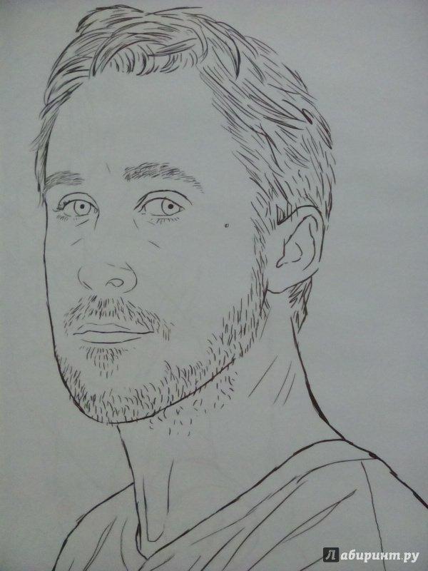 Иллюстрация 8 из 21 для Райан Гослинг. Раскраска для ...