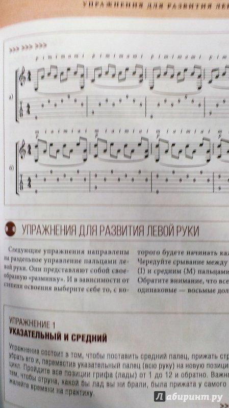 Упражнения для развития левой руки на гитаре