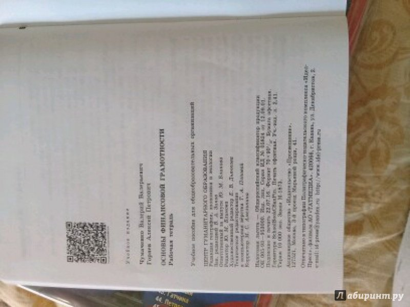 Иллюстрация 1 из 8 для Основы Финансовой грамотности. Рабочая тетрадь - Чумаченко, Горяев   Лабиринт - книги. Источник: Турчина