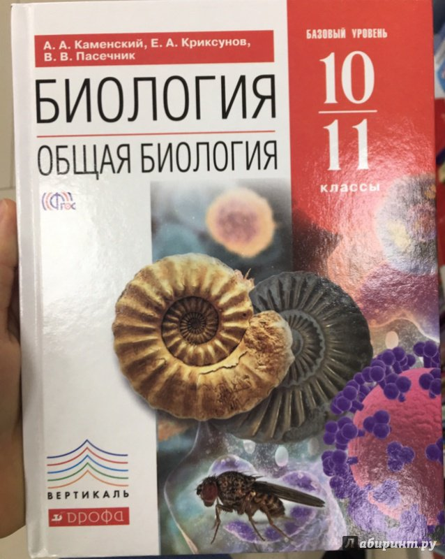 В. В. Пасечник, биология. Общая биология. 10–11 классы – читать.