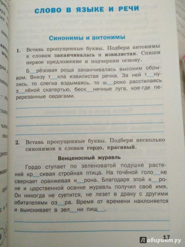 Гдз к тренажеру по русскому языку 3 класс