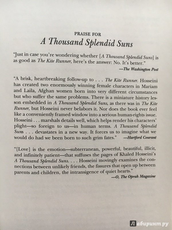 "the writing style of khaled hosseini in a thousand splendid suns ""in a thousand splendid suns"" by khaled hosseini, the struggles of women are depicted vividly mariam and laila are born generations apart, yet end up getting married to rasheed they are both married at the age of fifteen."