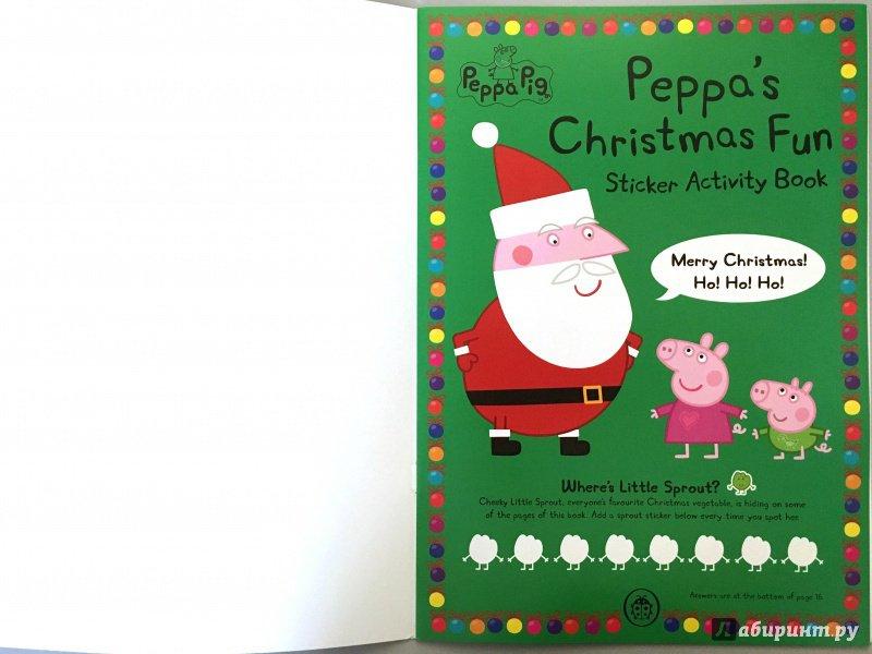 Иллюстрация 2 из 12 для Peppa Pig. Peppa's Christmas. Sticker Book | Лабиринт - книги. Источник: Красильникова  Мария