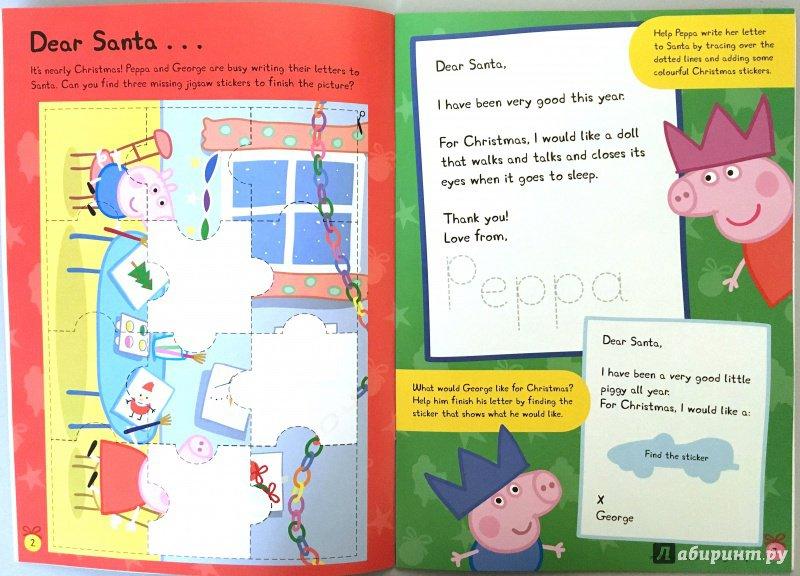 Иллюстрация 3 из 12 для Peppa Pig. Peppa's Christmas. Sticker Book | Лабиринт - книги. Источник: Красильникова  Мария
