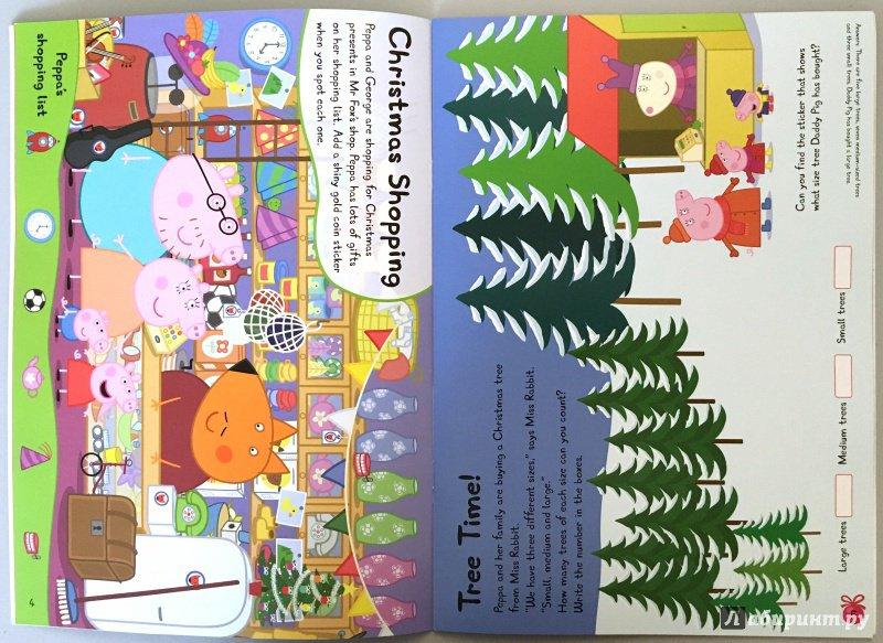 Иллюстрация 4 из 12 для Peppa Pig. Peppa's Christmas. Sticker Book | Лабиринт - книги. Источник: Красильникова  Мария