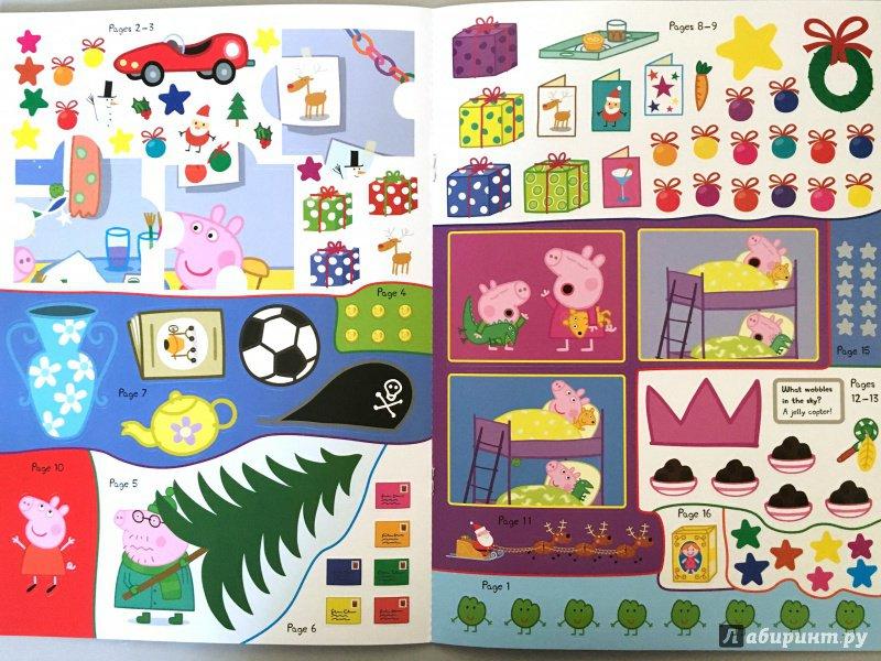 Иллюстрация 7 из 12 для Peppa Pig. Peppa's Christmas. Sticker Book | Лабиринт - книги. Источник: Красильникова  Мария