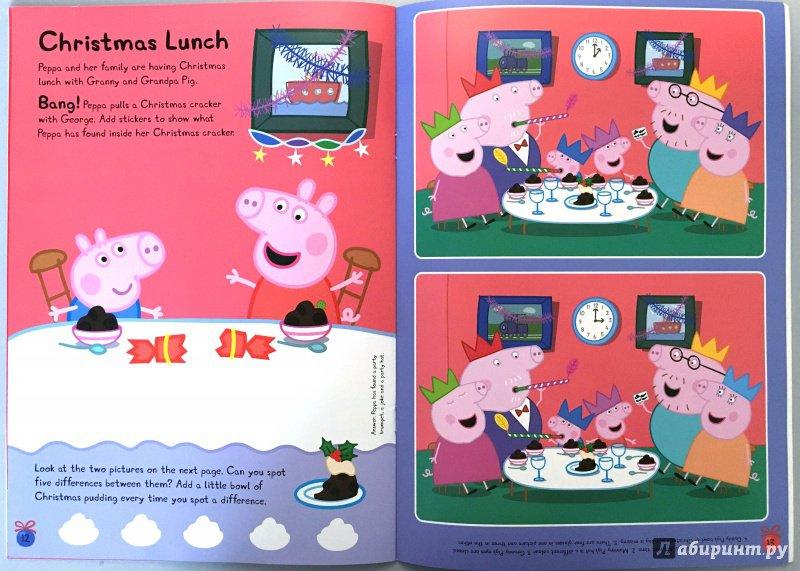 Иллюстрация 10 из 12 для Peppa Pig. Peppa's Christmas. Sticker Book | Лабиринт - книги. Источник: Красильникова  Мария