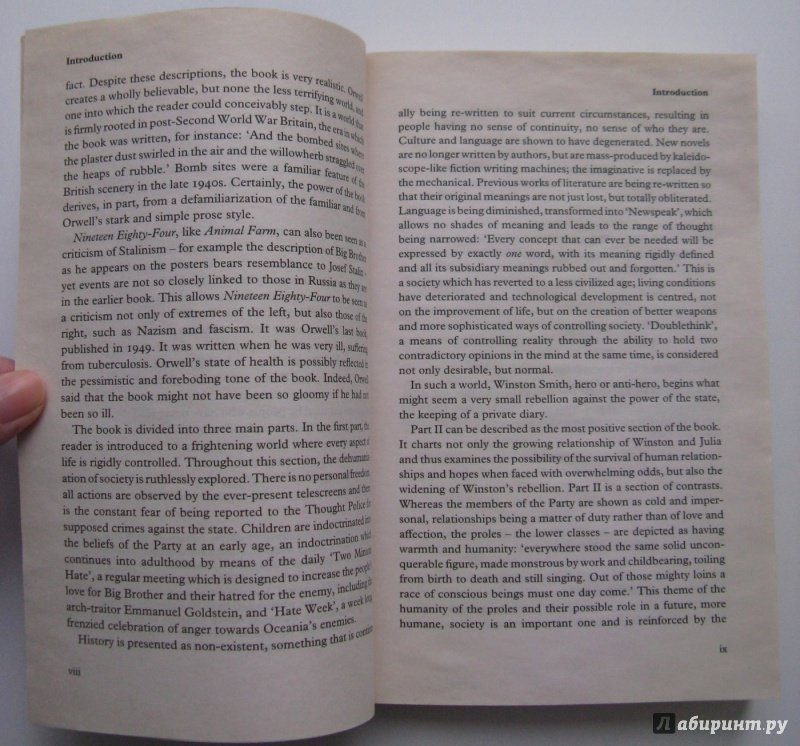 an analysis of personal rebellion and information control in nineteen eighty four by george orwell Jiffynotes todays premier novel resource guide and literary analysis search tool on his rebellion to the party orwell must have historical context main.