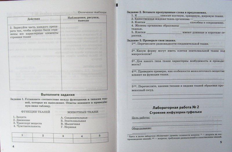 Амахина тетрадь для лабораторных работ биология 6 класс гдз